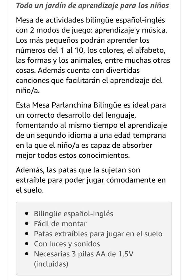 Mesa actividades bilingüe Chicco