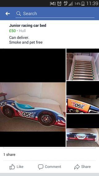 Junior racing bed