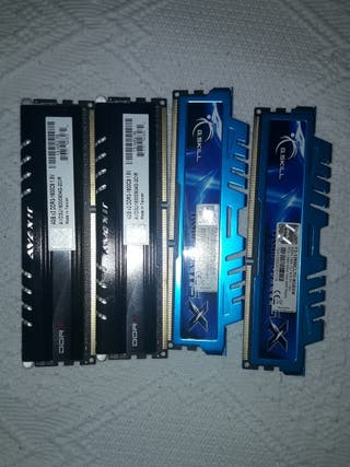 16 GB memorias rams ddr3 1600 (4x4gb)