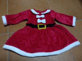 vestido Santa Claus bebé talla 62
