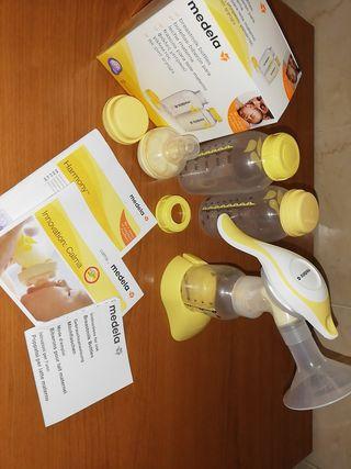 Extractor de lech e manual + tetina + 2 biberones