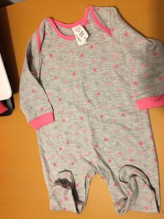 Pijama nueva bebé niña 68 cm