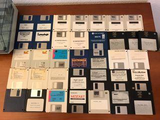 Lote disquetes años 90 videojuegos SOLO RECOGIDA