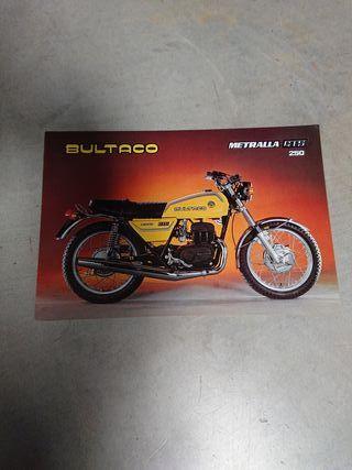 catalogo folleto técnico original BULTACO METRALLA