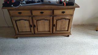mueble salon madera maciza