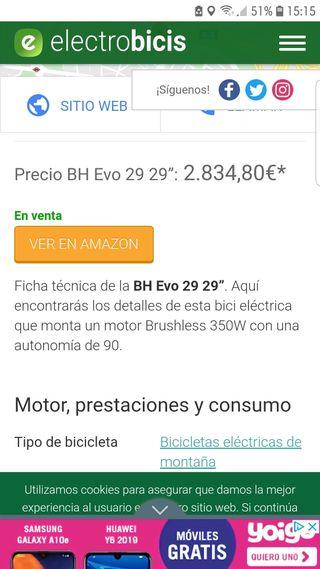 "bh evo 29"" bicicleta electrica"