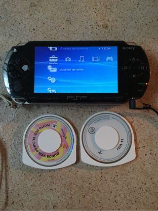 PSP 1004 tiene la bateria mal pero funcciona