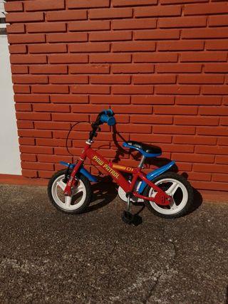 bicicleta infantil 14 pulgadas, patruya canina