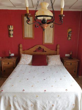 dormitorio rustico mexicano completo.