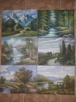 Lienzos pintados a mano