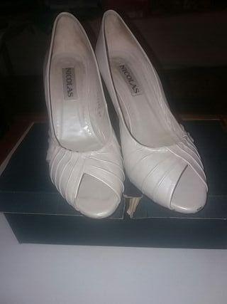 zapatos de tacón marca NICOLAS 100% calidad