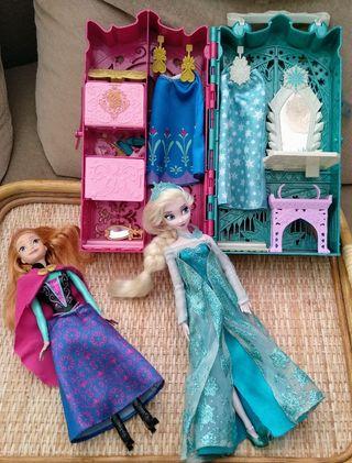 Armario Frozen y muñecas Elsa y Anna