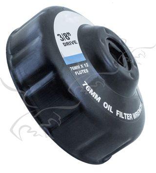 Cazoleta para filtros de aceite 76 mm x 12 caras