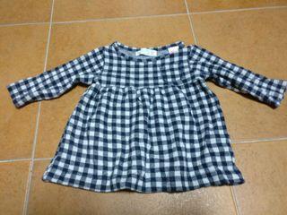 vestido Zara talla 3/6 meses - 68cm