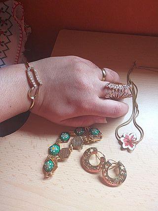 lotes de joyas pendientes collar y pendientes por