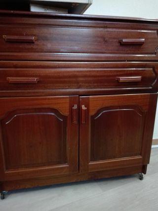 Mueble cajonera madera maciza