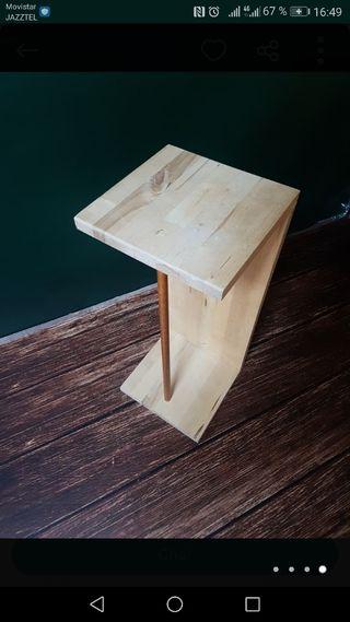Mesa estantería madera
