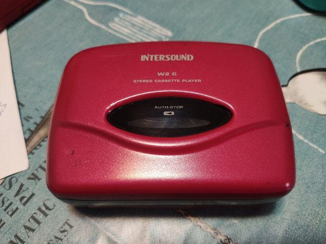 radio cassette antiguo rojo vintage