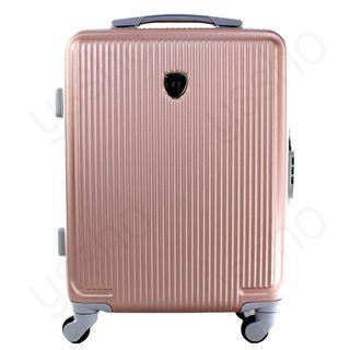 Maleta de viaje para cabina 55cm rígida oro rosa