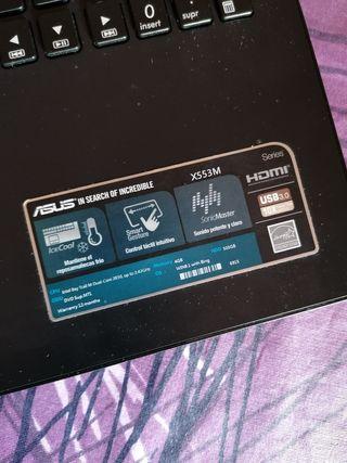portátil Asus x553m