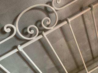 Cabecero hierro color marfil cama 1,35