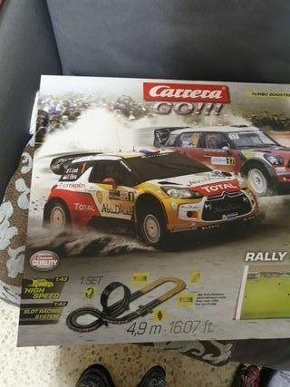 Scalextrix carrera Go!! turbo póster Rally acción.