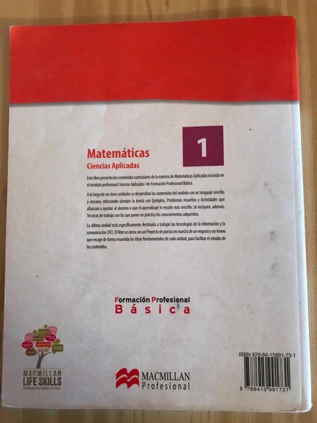 Libro matemáticas FORMACIÓN PROFESIONAL