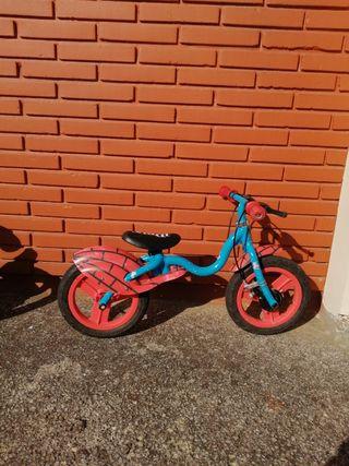 bicicleta sin pedales 10 pulgadas, spiderman