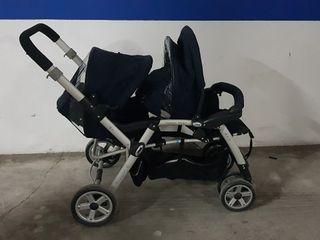 carro gemelar. sillas de paseo