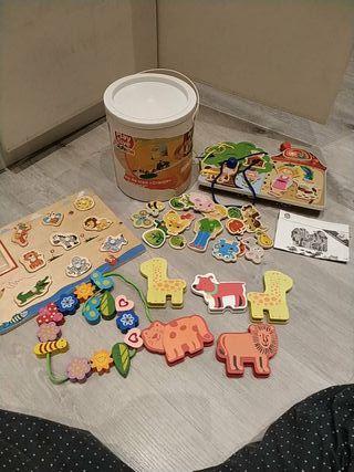 pack juguetes de madera