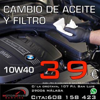 Cambio de aceite y filtro 10w40