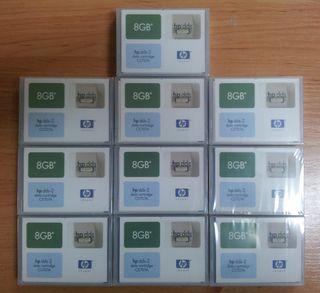 Cintas sin usar HP DDS-2 8GB backup copia segurida