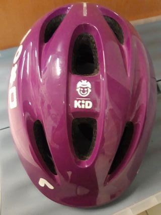Casco bici niño@ es color lila