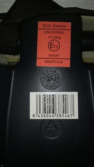 asiento elevable coche grupo 2-3
