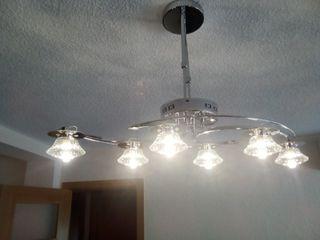 lampara de techo de salon con mando a distancia