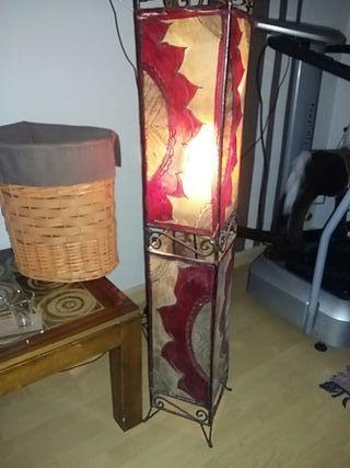 conjunto de cuadro+lampara+decoración.