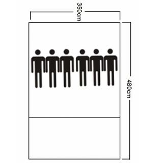 Tienda de Campaña para 6 Personas Tonos Azules