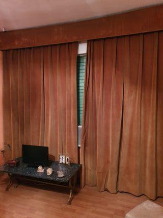 Juego de cortinas (terciopelo marrón)