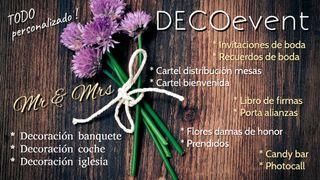 Decoración eventos, bodas, bautizos, comuniónes