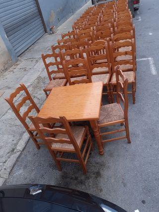 Comedor mesas sillas bar restaurante madera de segunda mano
