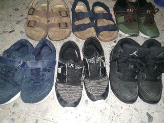 6 pares de zapatos talla 28 y 29