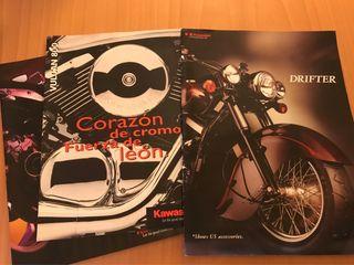 Tres catálogos Kawasaki Vulcan y Drifter