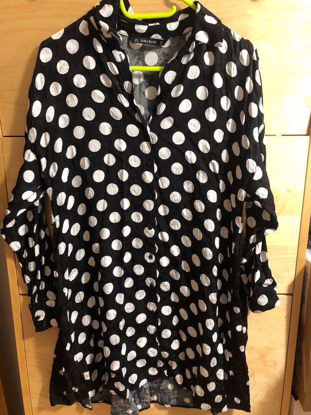 Vestido ancho lunares Zara TM nuevo!
