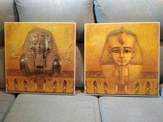 Cuadros Egipto Escriba y Faraón