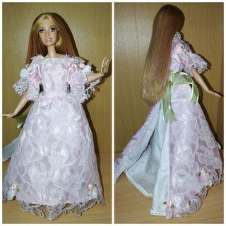 Vestido princesa barbie