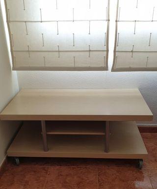 Mesa mueble de TV con ruedas