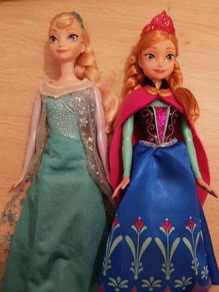 Princesas muñecas barbie Elsa y Ana