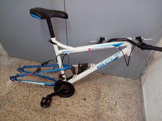 cuadro bicicleta doble suspension