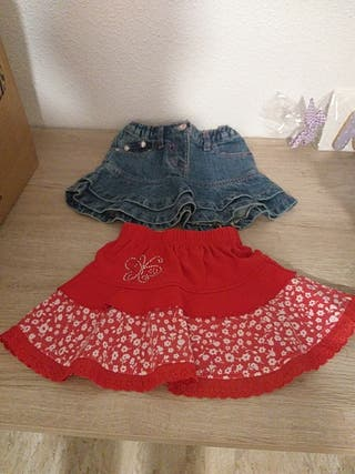 2 faldas niña