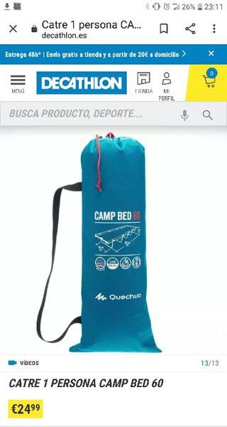 Catre Camp Bed 60 Quechua